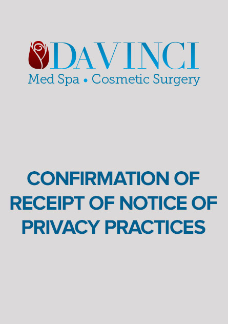 Confirmation of Receipt of Notice of Privacy Practices
